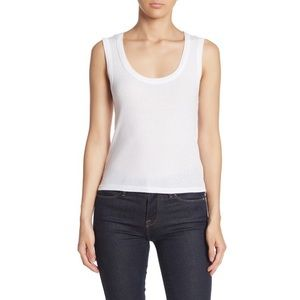 NWT BP. Scoop Neck Ribbed Tank Top in White
